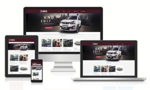 Imagens do site responsivo MVC Veículos