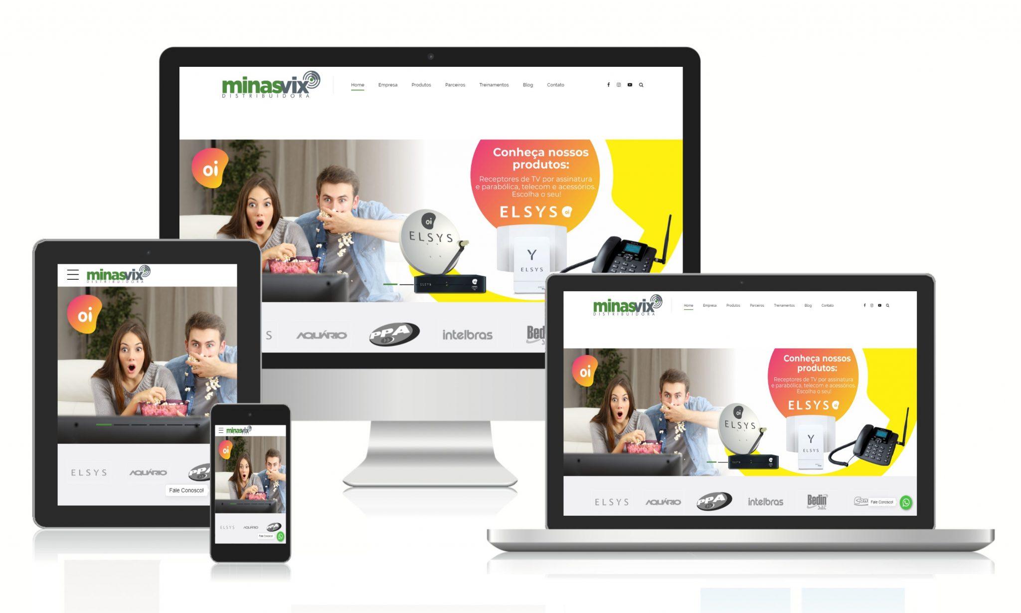 Ilustrações do site da distribuidora minasvix.
